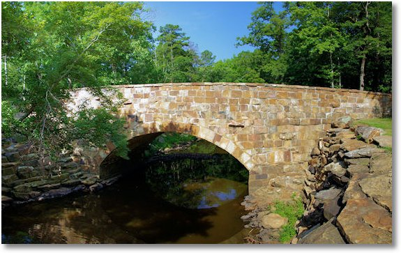 bridge over cedar creek, Petit Jean State Park, Arkansas