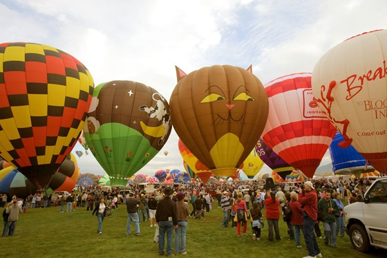 Albuquerque, New Mexico annual balloon festival