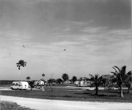 View of the Flamingo camping area - Everglades National Park, Florida; March 1960