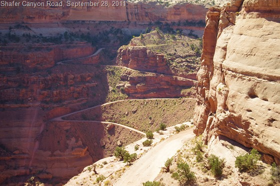Shafer Canyon Road, Canyonlands National Park, Utah, September 28, 2011