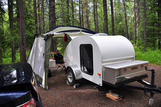 Our Humble Teardrop Trailer at Apgar Campground, Glacier National Park